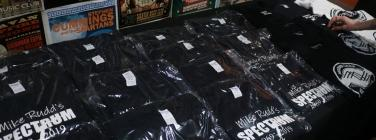 Merch at the Caravan Music Club 26/05/19